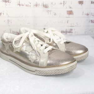 Bebe Sport Gold Shoes Size 8.5